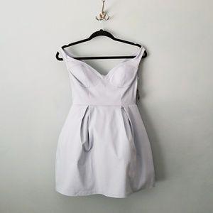 Nasty gal nwt Baby blue bardot mini dress